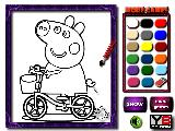 Play Happy pig coloring now