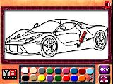 Play Ferrari coloring now