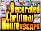 Play decorated christmas house escape now